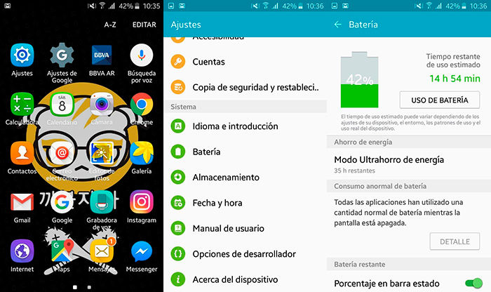 Saber que apps gastan mas bateria Android