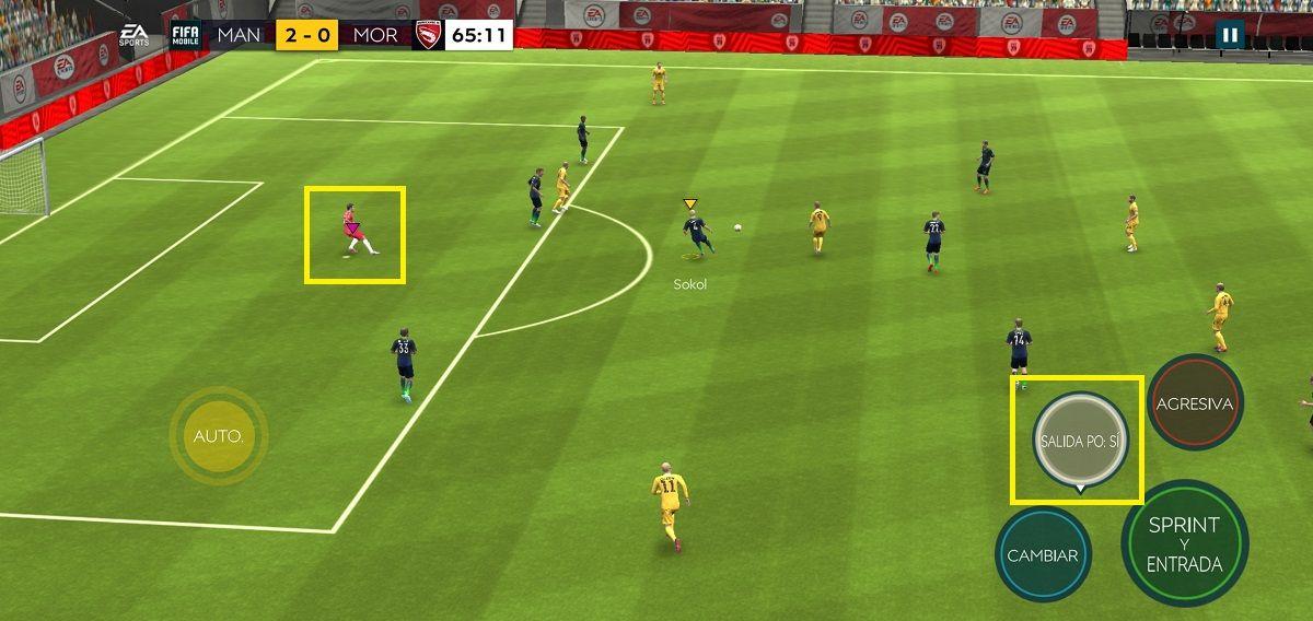 Sacar al portero FIFA Mobile
