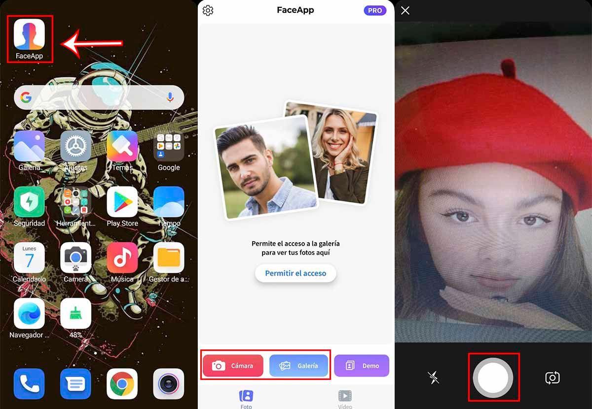 Sacar fotos FaceApp para encontrar y usar filtro belleza viral TikTok