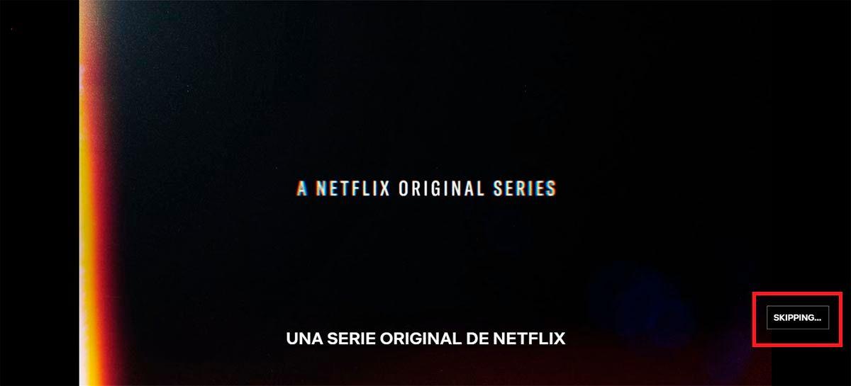 Saltar intro automaticamente Netflix