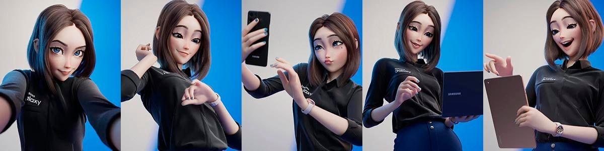 Sam chica de Samsung
