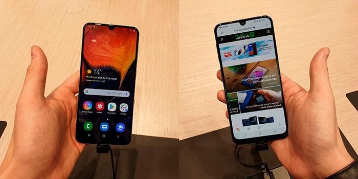 Samsung Galaxy A30 y Galaxy A50 especificaciones