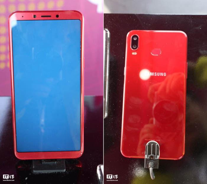 Samsung Galaxy A6s rojo real