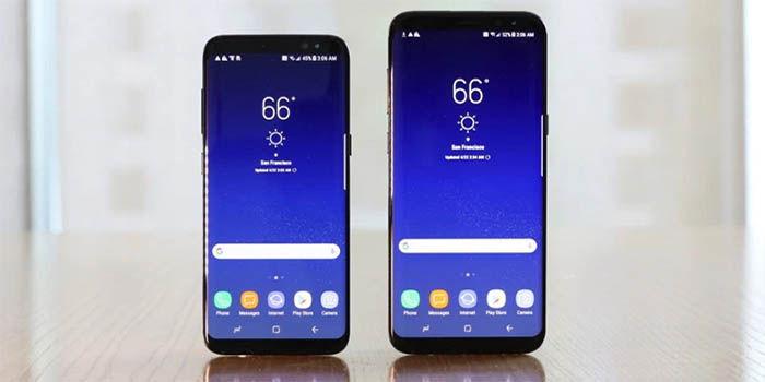 Samsung Galaxy S8 y S8 plus pantalla