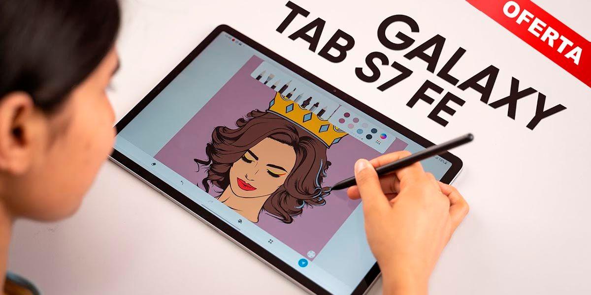 Samsung Galaxy Tab S7 FE oferta Amazon