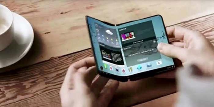 Samsung Galaxy plegable hacia adentro