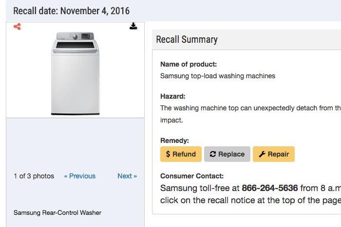 Samsung retira 3 millones de lavadoras explosivas
