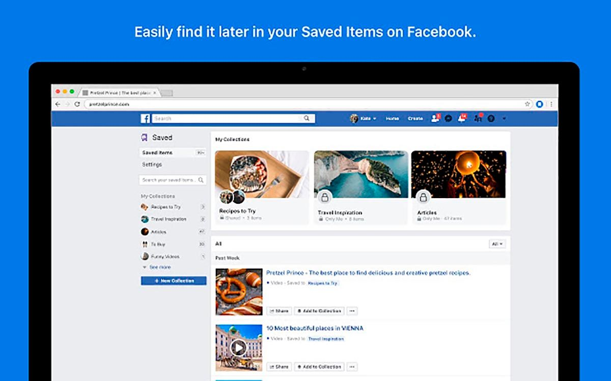 Save to Facebook extension Chrome