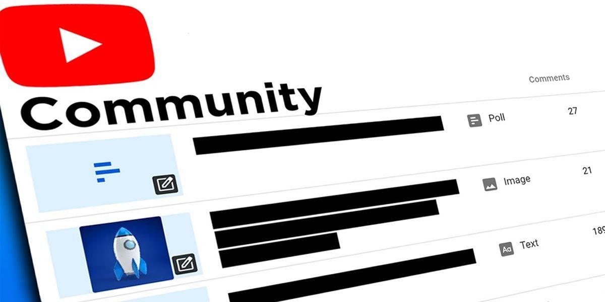 Se pueden subir posts a la Comunidad de YouTube con solo tener 500 suscriptores