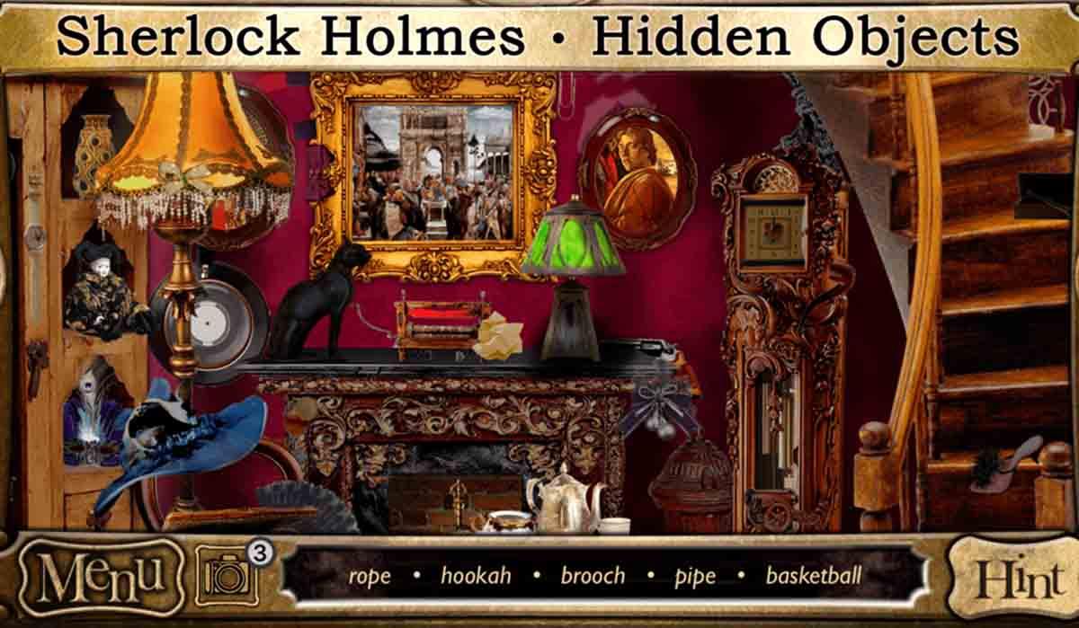 Sé un detective en Sherlock Holmes Objetos Ocultos