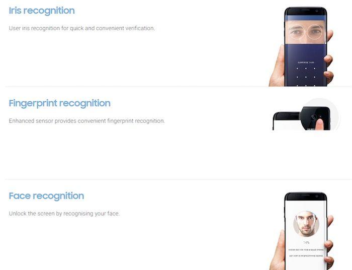 Seguridad Galaxy S8