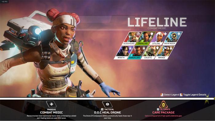 Seleccion de personajes Apex Legends