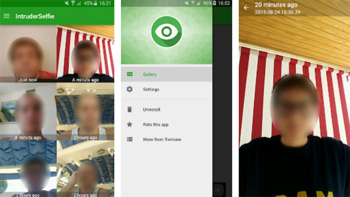 Selffie o intruso para Android