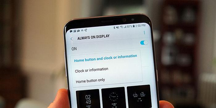 Sensibilidad boton home Galaxy S8