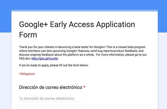 Ser beta tester google plus