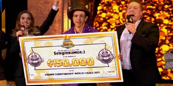 Sergio Ramos Ganador Mundial Clash Royale 2017