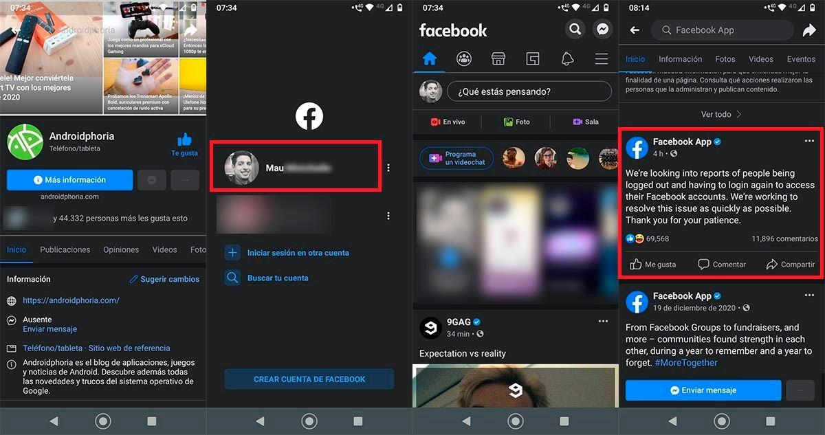 Sesion de Facebook se cierra sola