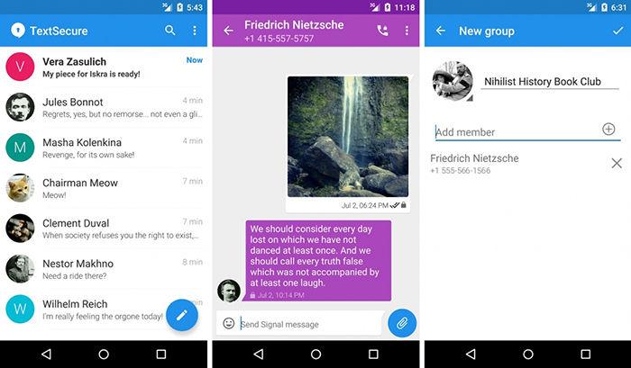 Signal Messenger para Android