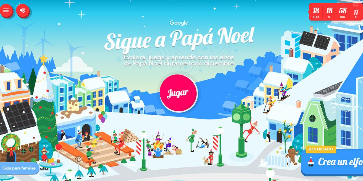 Sigue a Papa Noel con Santa Tracker