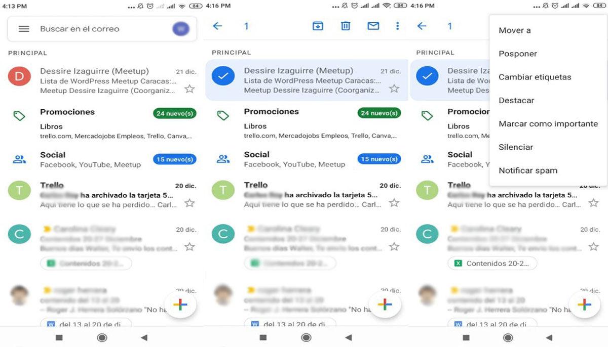 Silenciar conversaciones Android