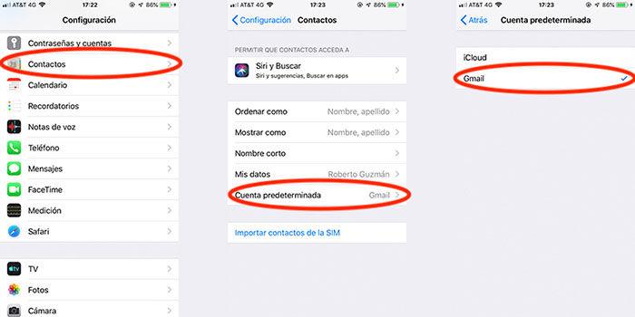 Sincronizar contactos Android iPhone