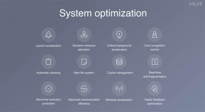 Sistema de optimizacion de MIUI 9