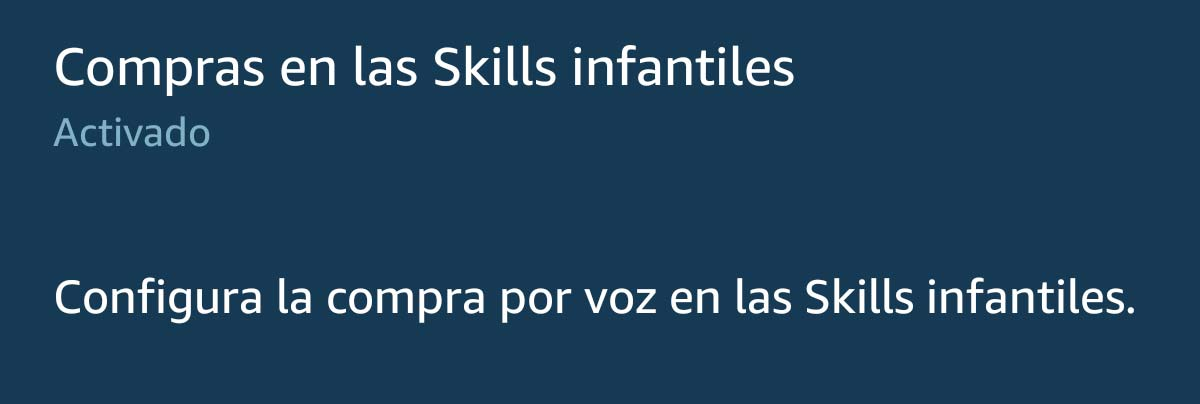 Skill infantiles en Amazon Echo