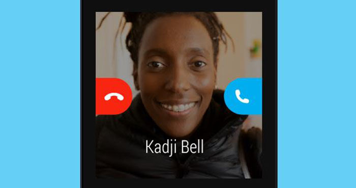 Skype para Android llamada