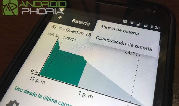 Smartphone ahorro batería