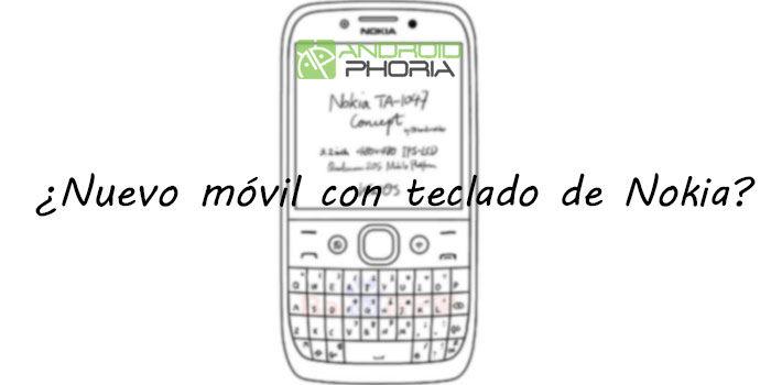 Smartphone con teclado de Nokia