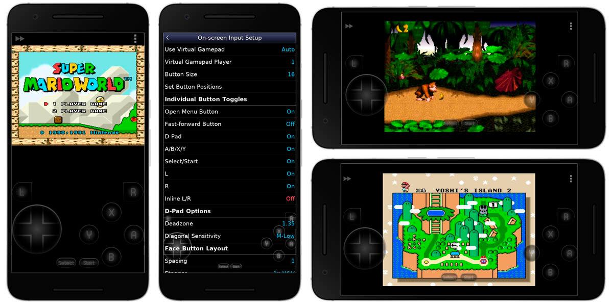 Snes9x EX mejor emulador super nintendo android snes