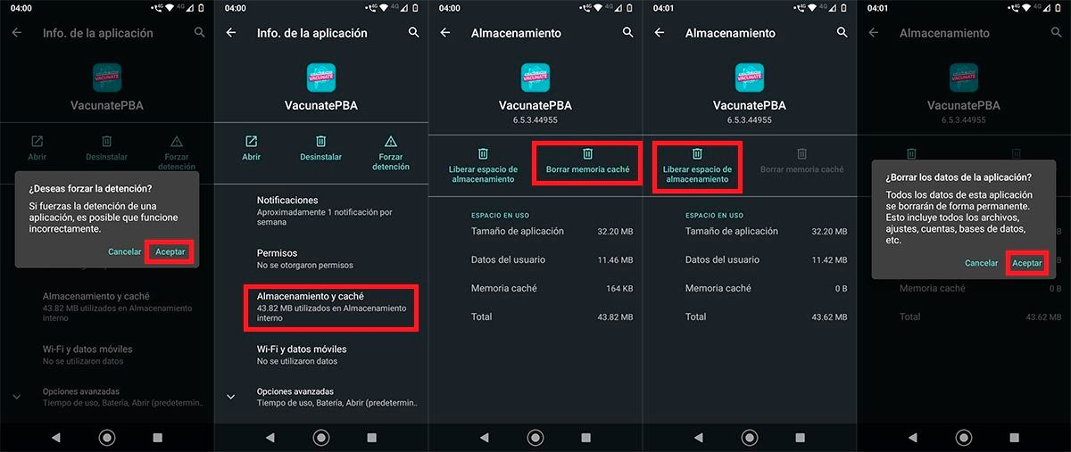 Solucion problema VacunatePBA Android