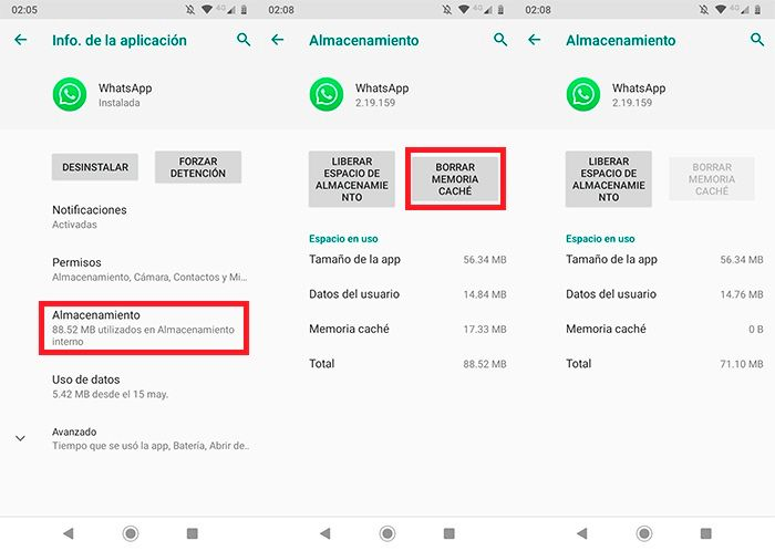Solucionar problema WhatsApp se cierra tutorial 2