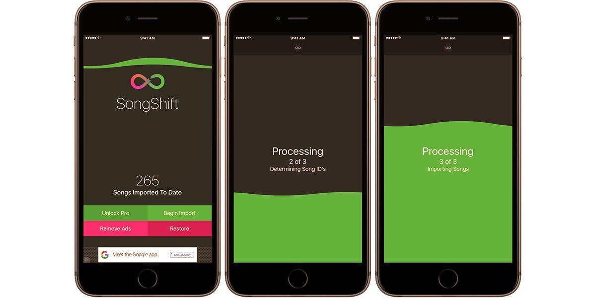 Songshift aplicación