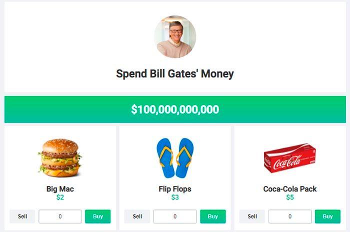 Spend Bill Gates Money juego