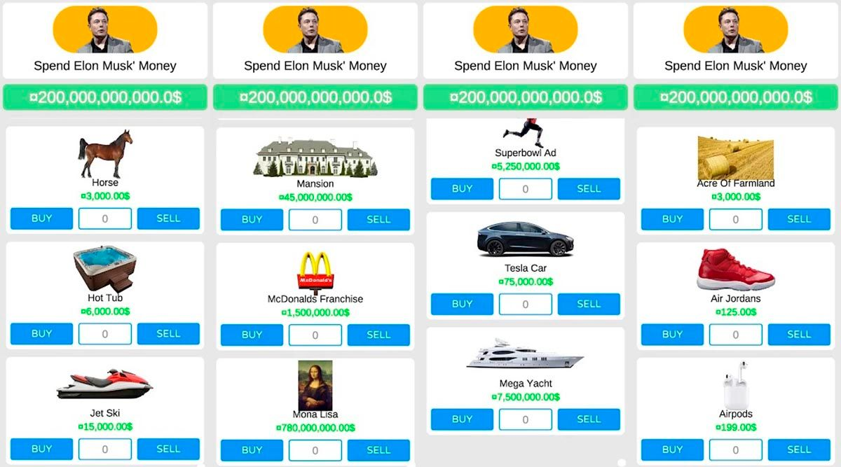 Spend Elon Musk Money juego Android