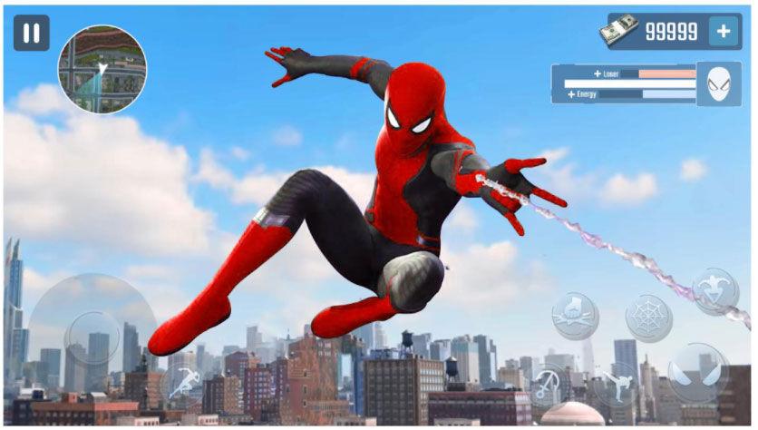 Spider Rope Hero - Gangster New York City