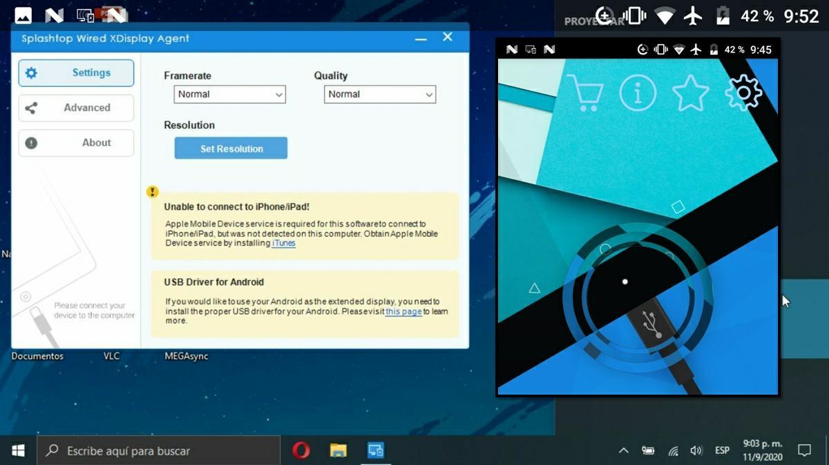 Splashtop Wired XDisplay app