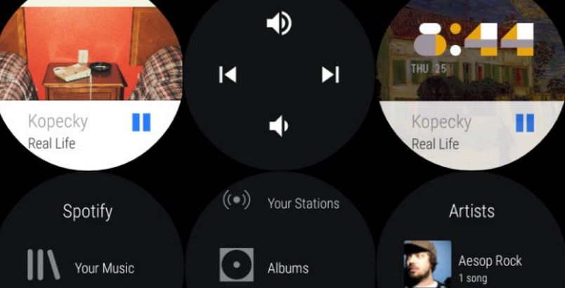 Spotify compatible con Android Wear