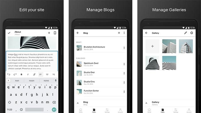 Squarespace para Android