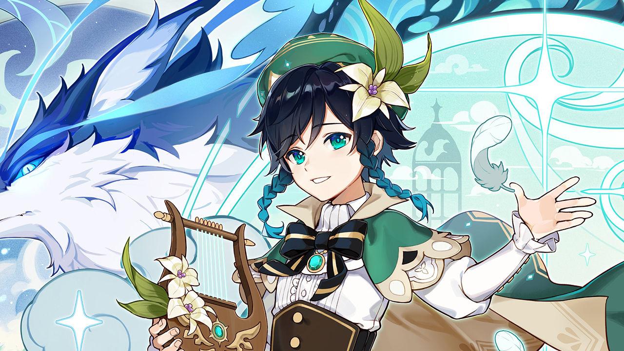 Stats del personaje Venti en el videojuego Genshin Impact