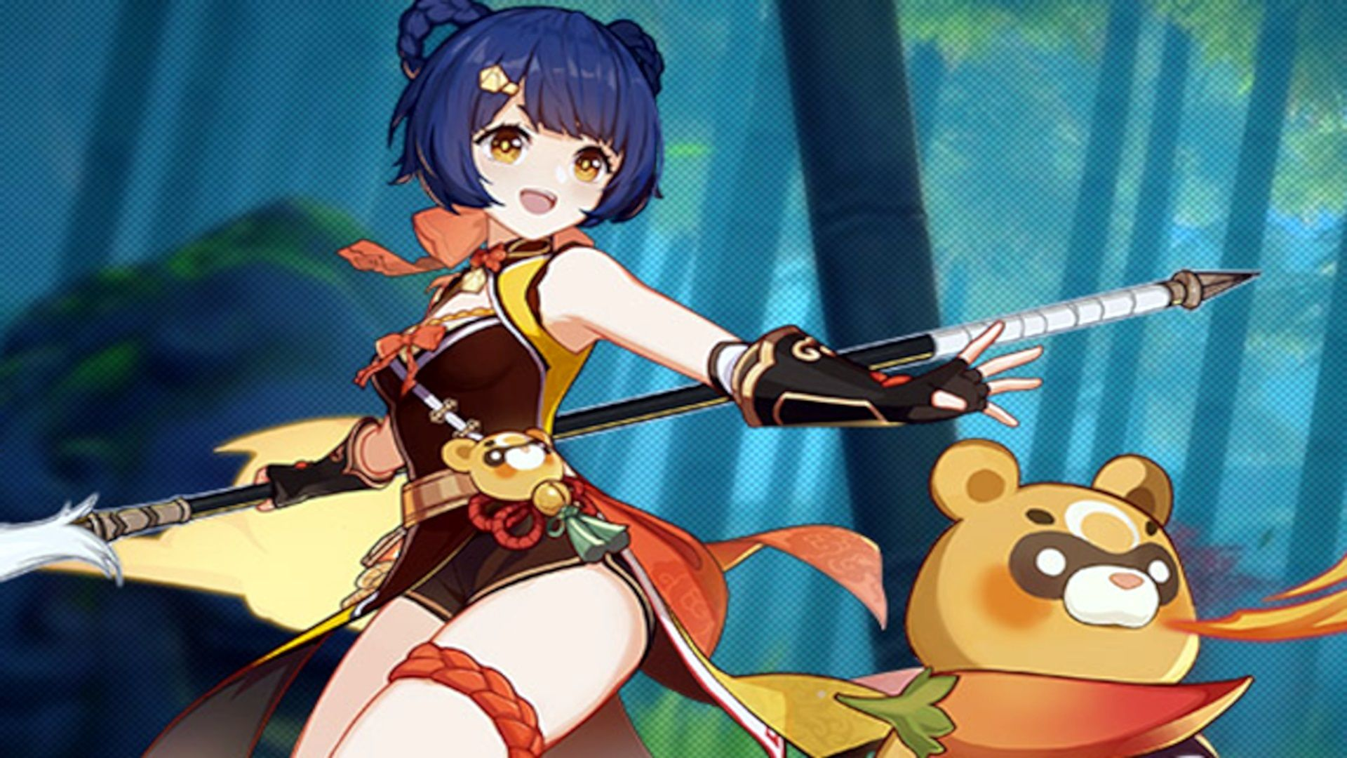 Stats del personaje Xiangling en el videojuego Genshin Impact