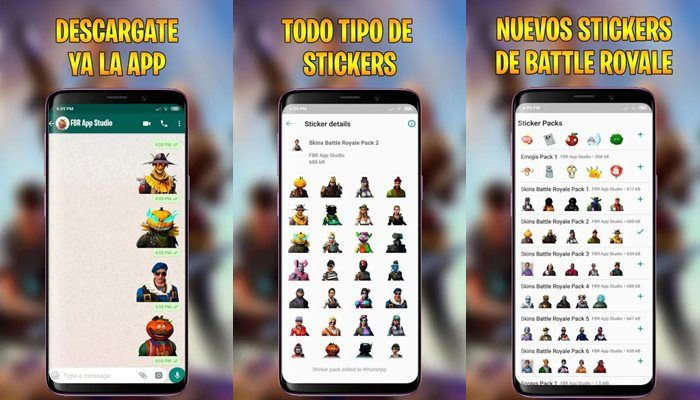 Stickers Adhesivos Battle Royale