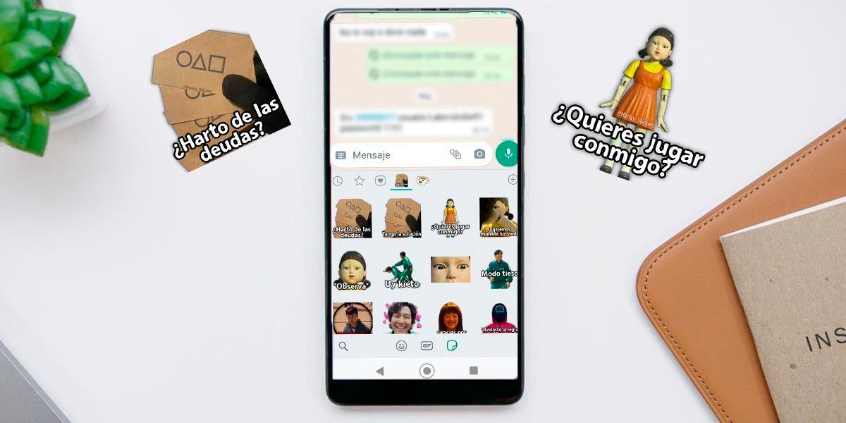 Stickers El juego del calamar WhatsApp