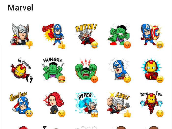 Stickers Los Vengadores para Telegram