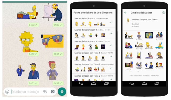 Stickers los simpson Android