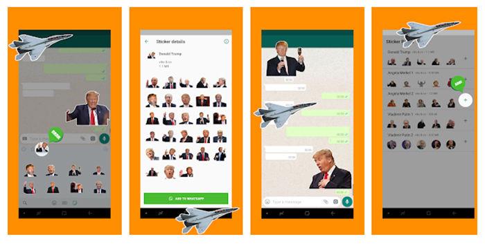 Stickers presidentes WhatsApp