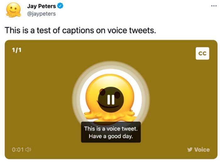 Subtitulos automaticos Twitter iPhone