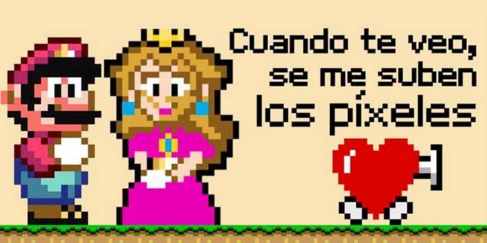 Super Mario Felicitacion San Valentin