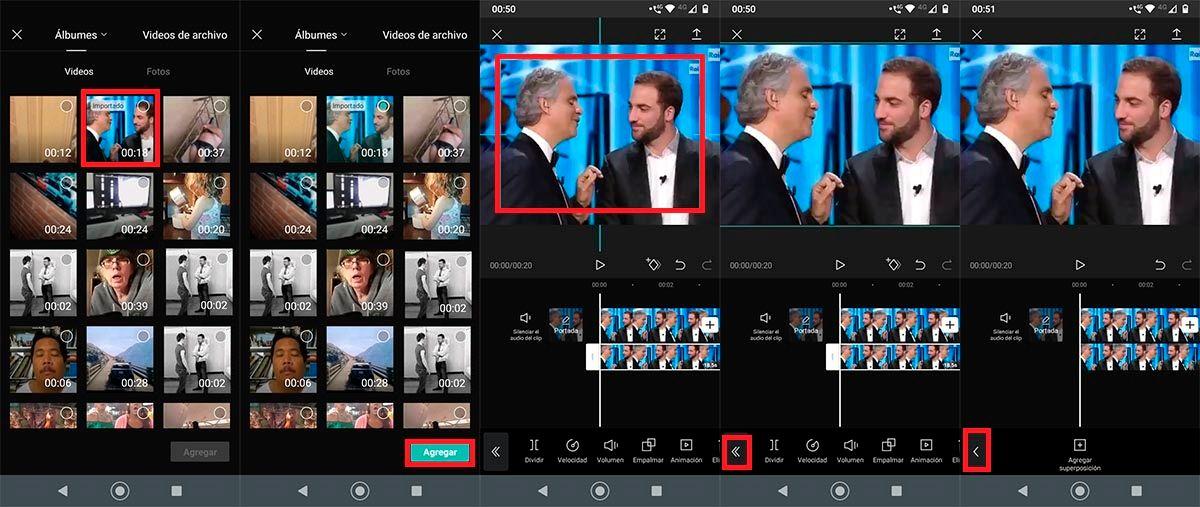 Superponer videos CapCut